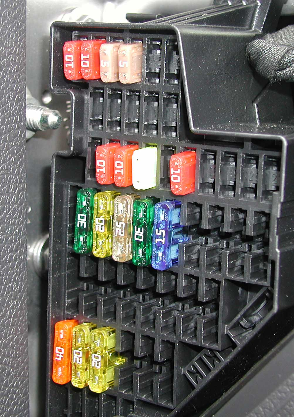 vw golf fuse box diagram